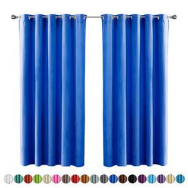 image-Fay Solid Eyelet Sheer Curtain Brayden Studio Colour: Marine Blue, Panel Size: 140 W x 260 D cm