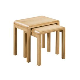image-Curve Oak Nest of 2 Tables