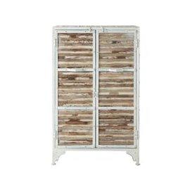 image-Metal cabinet in white W 75cm Mistral