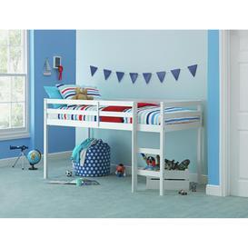 image-Argos Home Kaycie Mid Sleeper Single Bed Frame - White
