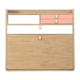 image-Gaston Wall writing desk - / L 80 x H 72 cm - Oak by Hartô Pink/Natural wood