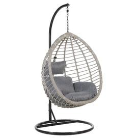 image-Lia Tollo Swing Chair with Stand Freeport Park Colour: Grey