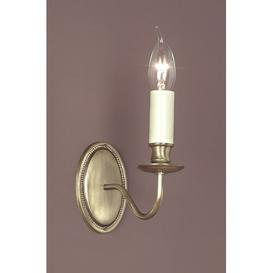 image-Bainsbury 1-Light Candle Wall Light Ophelia & Co. Finish: Light Bronze