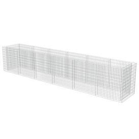 image-Gabion Metal Planter Box Freeport Park Size: 100cm H x 540cm W x 90cm D