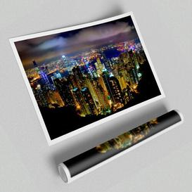 image-'Hong Kong Night Light' - Unframed Photograph Print on Paper East Urban Home Size: 100 cm H x 141.4 cm W