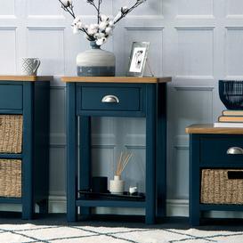 image-Rutland Blue Painted Oak Telephone Table