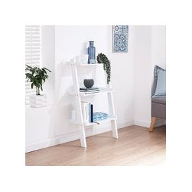 image-Irene Ladder Style Three Tier Wall Rack Shelving Unit In White