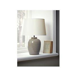 image-Grey Barrel Glazed Table Lamp