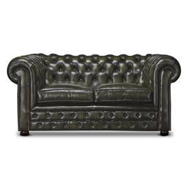 image-Hartington Genuine Leather Chesterfield Loveseat