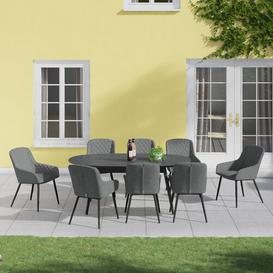 image-Ironton 8 Seater Dining Set Dakota Fields Colour: Grey