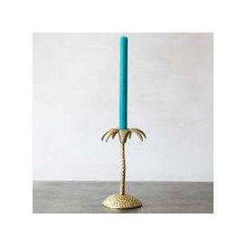image-Single Golden Palm Candle Holder