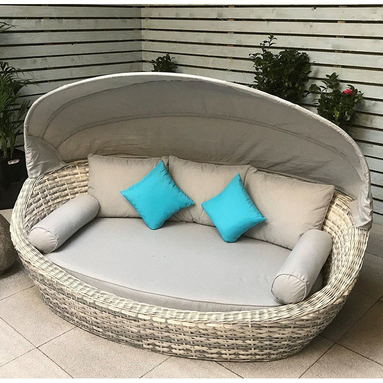 image-Signature Weave Garden Furniture Constance Daybed With Canopy