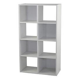 image-8 Cube Storage Display Unit Bookcase Symple Stuff Colour: White