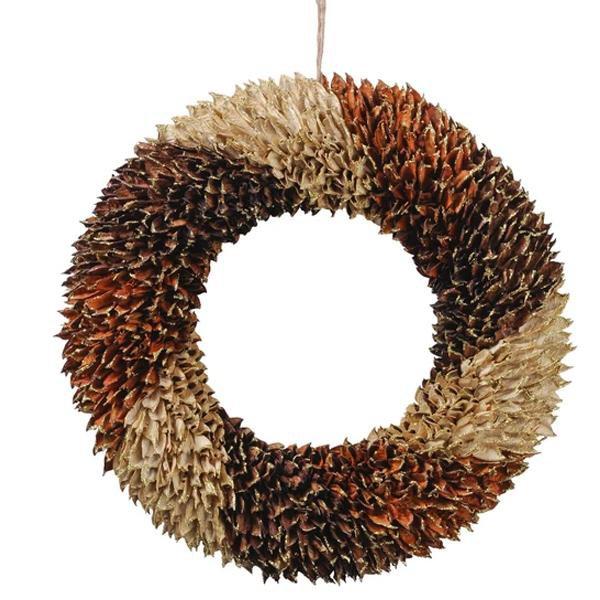 image-Libra Textured Large Orange Wreath - Xmas-18