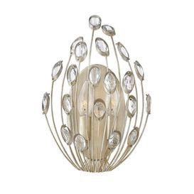 image-HK/TULAH2 Tulah 2 Light Wall Light In Silver Leaf