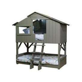 image-Mathy by Bols Treehouse Bunk Bed in Artichoke - Mathy Basalte Grey
