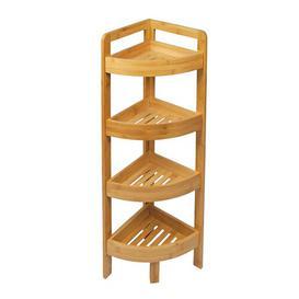 image-Cutlip 4 Tier Corner Free-standing Tall Bathroom Cabinet Rebrilliant