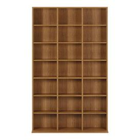 image-Pigeon Multimedia Open DVD/CD Shelf Mercury Row Colour: Oak