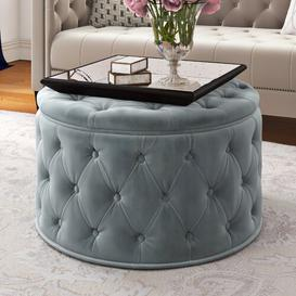 image-Bouchard Cocktail Ottoman Canora Grey Upholstery Colour: Light Grey