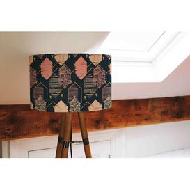 image-Cotton Drum Lamp Shade Canora Grey Size: 25cm H x 40cm W x 40cm D