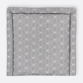 image-White Thin Diamonds Changing Mat KraftKids Size: 78 x 78cm, Colour: Grey
