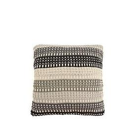 image-Cascade Home Ombre Stripe Knitted Cushion