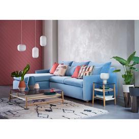 image-Heal's Pillow Medium Left Hand Corner Chaise Varese Velvet Delft Natural Feet