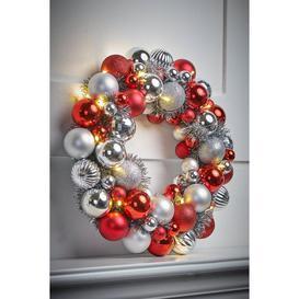 image-LED Bauble Wreath