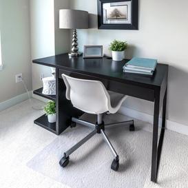 image-Cleartex Ultimat Polycarbonate Chair Mat for Deep Pile Carpets Floortex Size: 119cm x 89cm