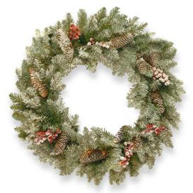 """image-""""24"""""""" LED Dunhill Wreath Green"""""""