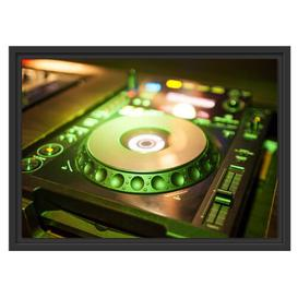 image-Green Lit DJ Decks Framed Art Print East Urban Home Size: 40cm H x 55cm W