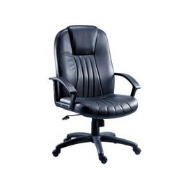 image-Metro Leather Faced Executive Chair, Black