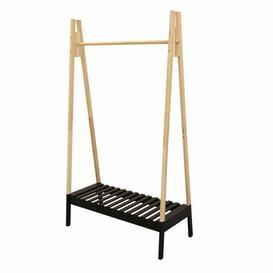 image-Rosamel Factory Clothes Rack - 100 X 46 X 170 Cm - Black Ebern Designs