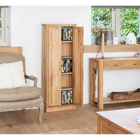 image-Rhone Solid Oak DVD Storage Cupboard