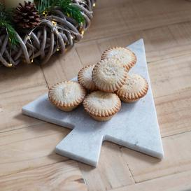 image-Marble Christmas Tree Serving Board