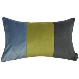 image-Epicurus Cushion Brayden Studio Colour: Petrol Blue/Lime, Size: 30 x 50cm