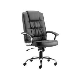 image-Moore Leather Deluxe Executive Office Chair In Black With Arms