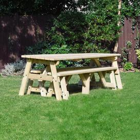 image-Sol 72 Outdoor Wooden Picnic Bench Sol 72 Outdoor Finish: Light Green, Table Size: 240cm L x 142cm W