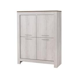 image-Alpina Modern Bar Unit In White Oak With Distressed Effect Top