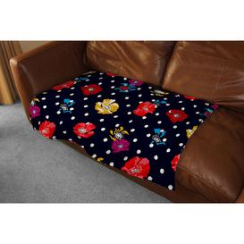 image-Flowers and Spots Blanket