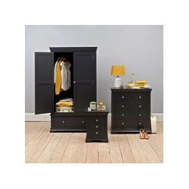 image-Chantilly Dusky Black Double Wardrobe Bedroom Set