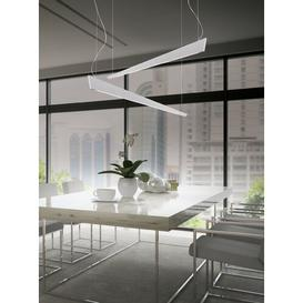 image-Katana 7-Light LED Rectangle Pendant CATTANEO Finish: White