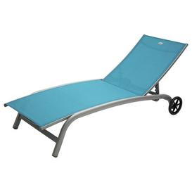 image-Kavan Reclining Sun Lounger Sol 72 Outdoor Colour (Textile): Blue