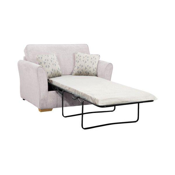image-Silver Fabric Sofas - Armchair Sofa Bed - Jasmine Range - Oak Furnitureland