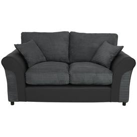 image-Argos Home Harry 2 Seater Fabric Sofa - Charcoal