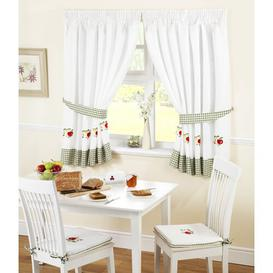 image-Pencil Pleat Semi-Sheer Curtains Brambly Cottage