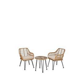 image-Madrid Cane Effect Bistro Set Garden Furniture