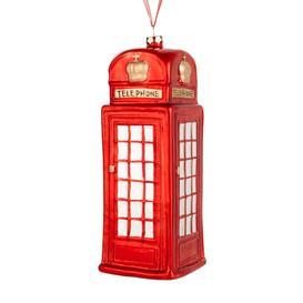 image-John Lewis & Partners Telephone Box Bauble, Red