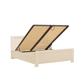 image-New York Bed with Storage and LED - 90 x 200cm Alpine White