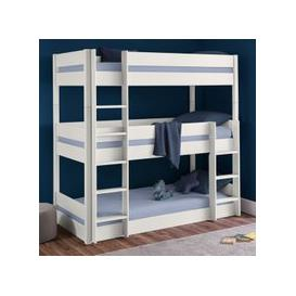 image-Trio Wooden Bunk Bed In Surf White